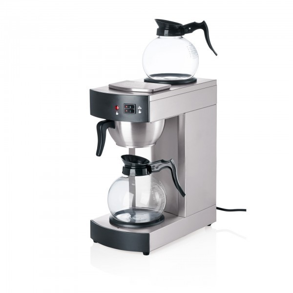 Kaffeemaschine - Chromnickelstahl - mit 2 Kaffeekannen