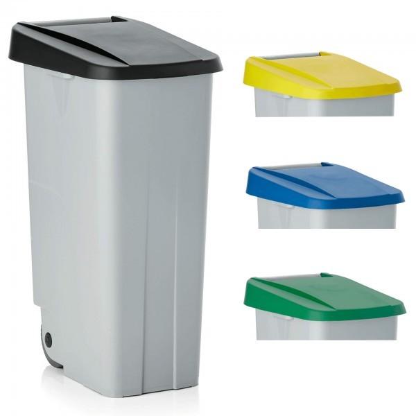 Abfallbehälter - 85 oder 110 Liter mit Deckelfarben in schwarz, grün, blau oder gelb - 9236.854