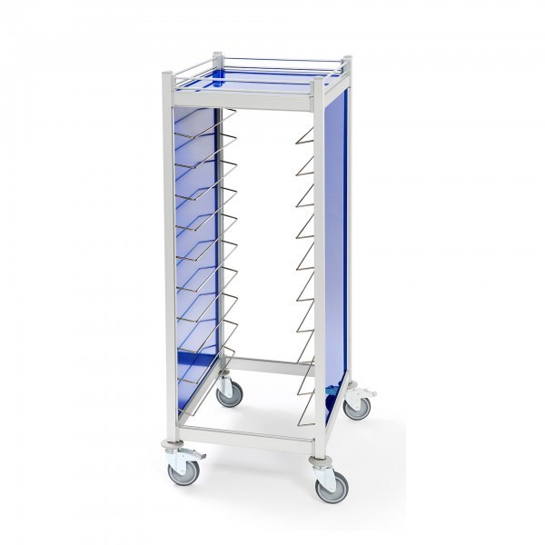 Tablettwagen - Aluminium - weiß