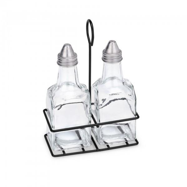 Menage - Serie 1493 - Glas - Essig, Öl, Salz und Pfeffer - extra preiswert