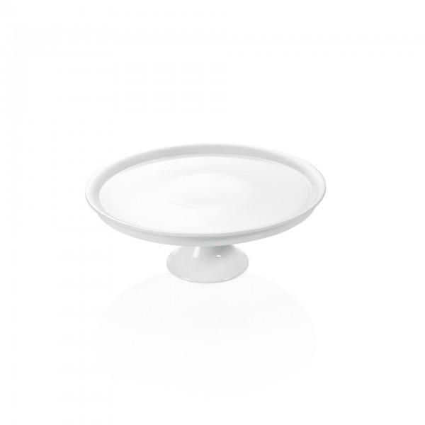 Tortenplatte - Porzellan - rund - auf Fuß
