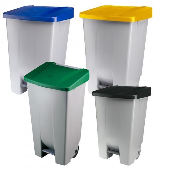 Tretabfalleimer - schwarz, blau, gelb und grün - 60, 80 oder 120 Liter