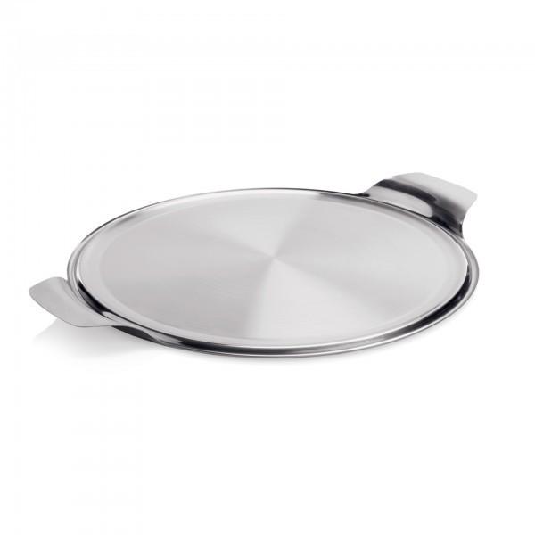 Tortenplatte - Edelstahl - rund - mit zwei Seitengriffen - extra preiswert