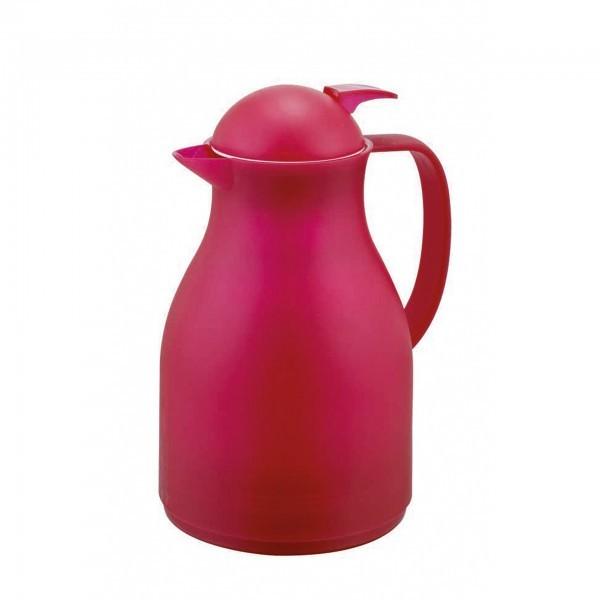 Isolierkanne - Kunststoff - rot - mit Glaseinsatz - 3906 100