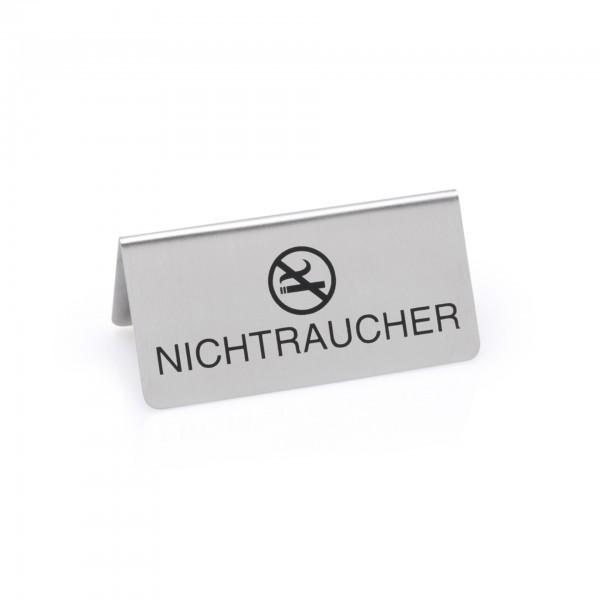 Nichtraucherschild - Chromnickelstahl