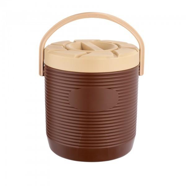 Thermospeisetransportbehälter - Kunststoff - braun - Schraubdeckel - extra preiswert