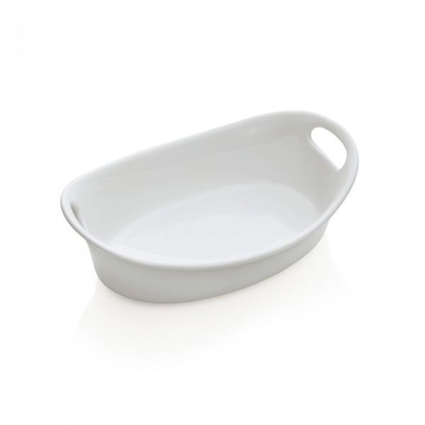 Schale - Porzellan - mit Seitengriffen