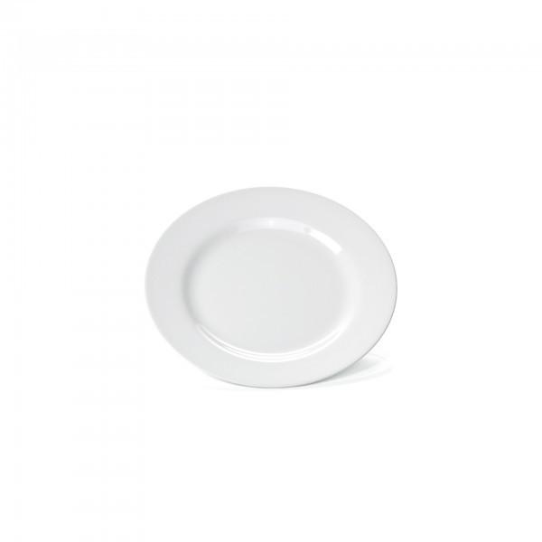 Teller - Melamin - weiß - flach