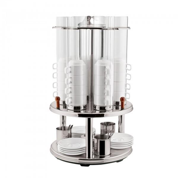 Tassenspender - Edelstahl - für max. 48 Tassen bis Ø 85 mm
