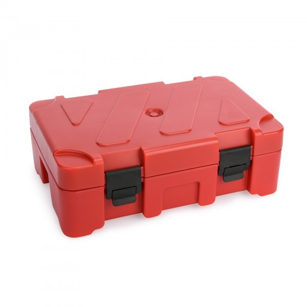 GN-Thermotransportbehälter - Kunststoff - rot - für GN Behälter 1/1 - 3712.100