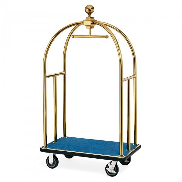 Gepäckwagen - Edelstahl - gold - versch. Teppichfarben - extra preiswert
