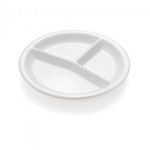 Abteilteller - Serie Hamburg - Porzellan - rund - für Systemgastronomie - premium Qualität