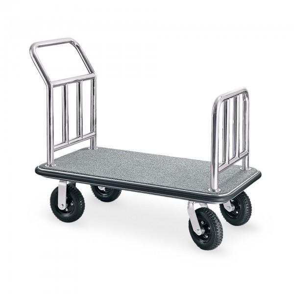 Gepäcktransportwagen - Edelstahl - silber - versch. Teppichfarben