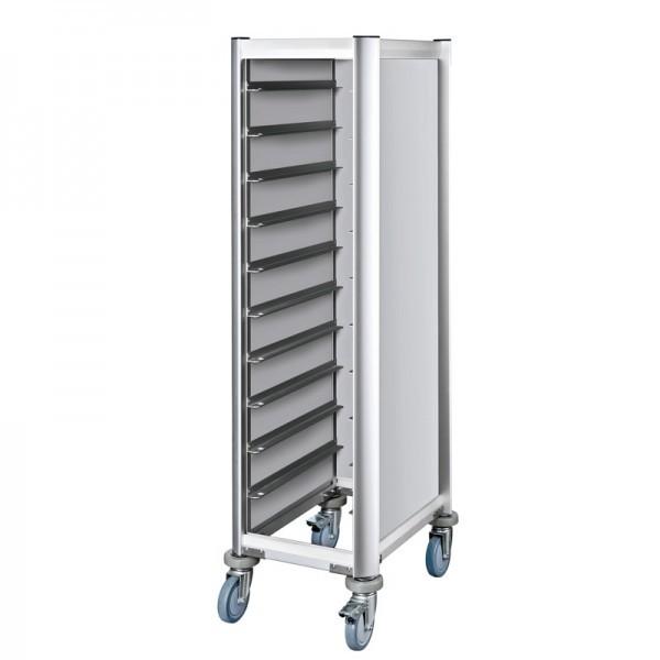 EN-Regalwagen - Aluminium - für 10 Euronorm Tabletts - premium Qualität