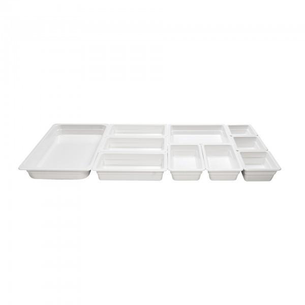 GN-Behälter - Serie Top-Line - Melamin - weiß - premium Qualität