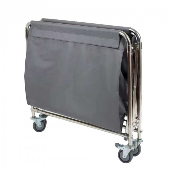 Wäschewagen - Edelstahl - rechteckig