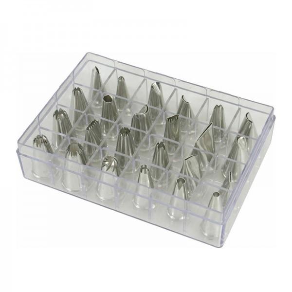 Spritztüllenset - 24 Stück in Sortimentsbox