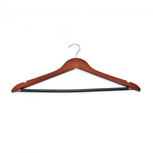 Kleiderbügel - Holz - kirsche - mit Einkerbungen und rutschfestem Steg