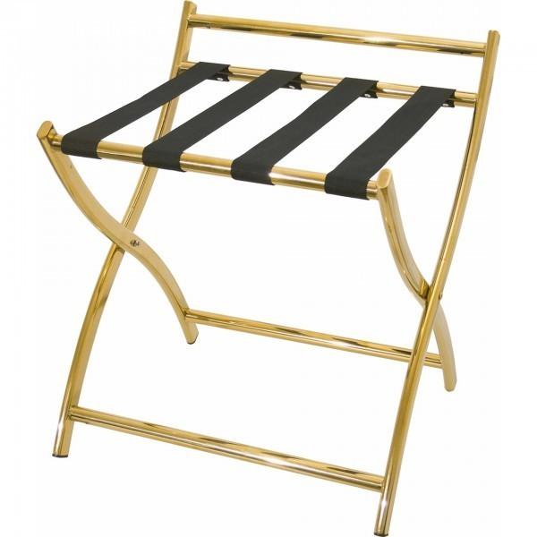 Kofferständer - Chromnickelstahl - mit Wandschutz - premium Qualität