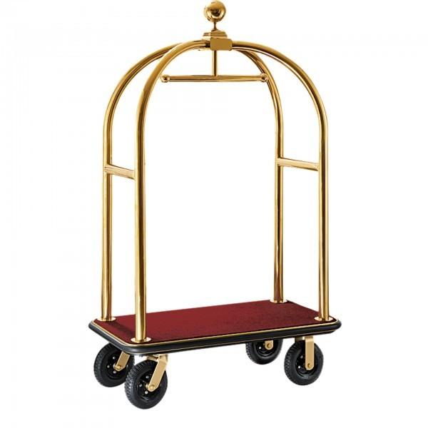 Kofferwagen - Edelstahl - gold - versch. Teppichfarben - premium Qualität