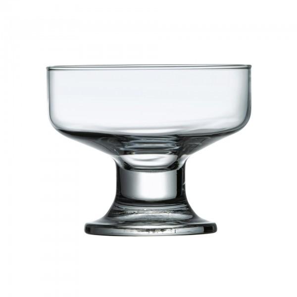 Eisbecher - Glas - auf Fuß