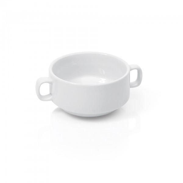 Suppentasse - Porzellan - mit Henkelgriffen