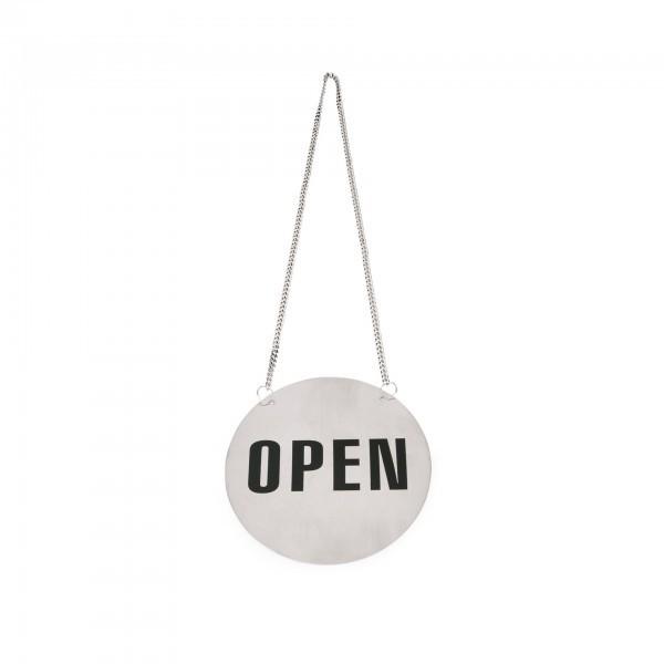 Wendeschild Open/Closed - Chromnickelstahl - rund - matt - 4303 130