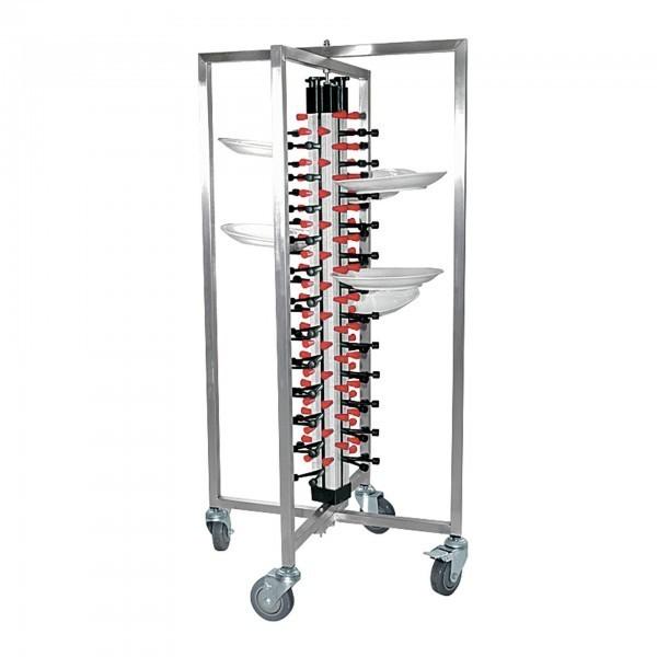 Tellertransportwagen - Tellerstapelsystem - 4 schwenkbare Rollen - 9946.048