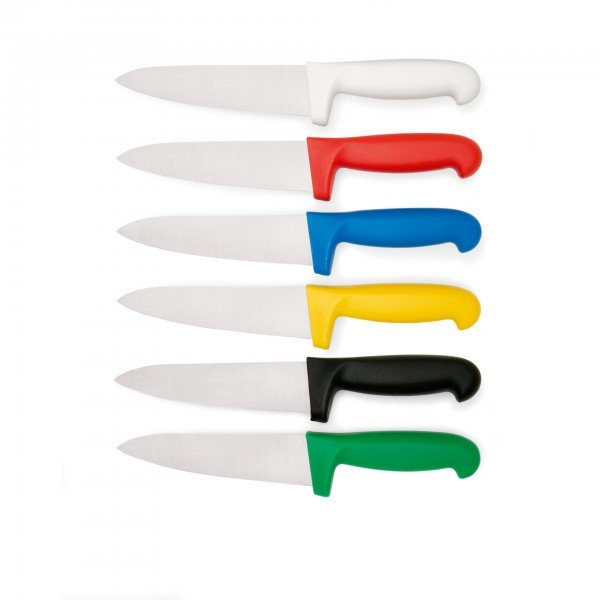 Kochmesser - Serie HACCP - Edelstahl - versch. Farben - mit Fingerschutz