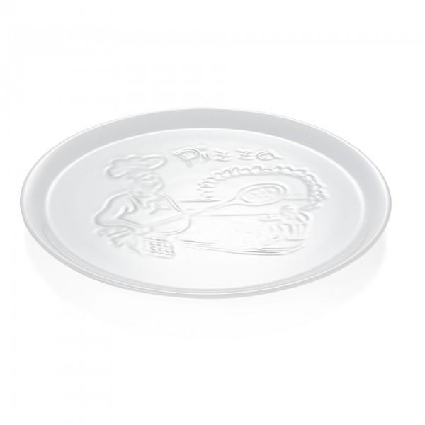 Pizzateller - Porzellan - mit Pizzabäckerrelief