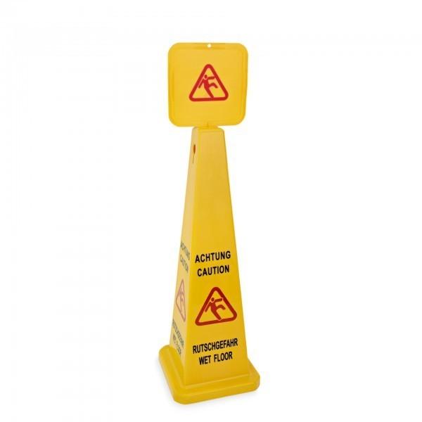 Aufsteller - Kunststoff - beidseitig beschriftet: Achtung Rutschgefahr – Caution Wet Floor - premium Qualität