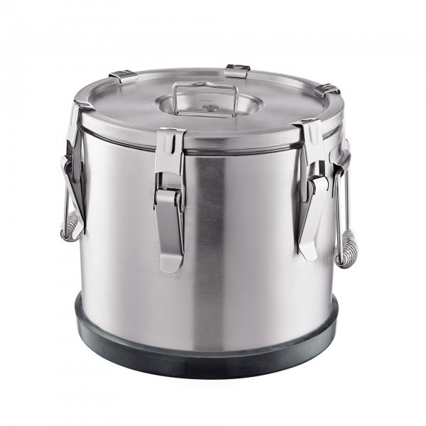 Thermospeisetransportbehälter - Chromnickelstahl - mit 6 Verschlußklammern - premium Qualität