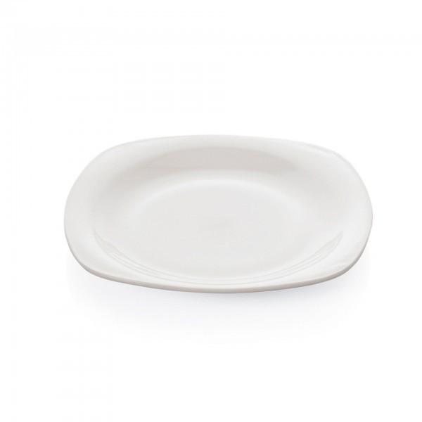 Teller - Serie Opal - Opalglas - flach
