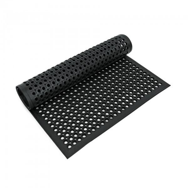 Fußbodenmatte - Gummi - schwarz - perforiert