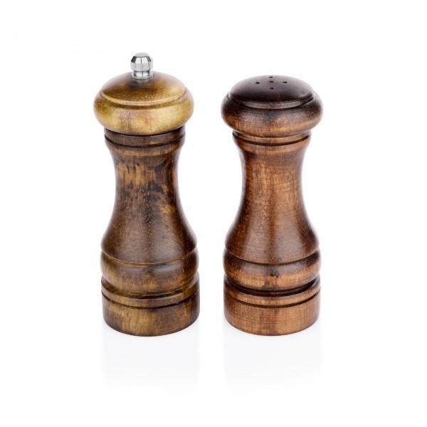 Pfeffermühle & Salzstreuer - Holz - mit Keramikmahlwerk - extra preiswert
