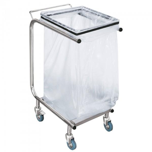 Müllbeutelwagen - Chromnickelstahl - 4 Schwenkrollen