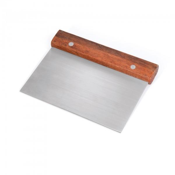 Teigschaber - Edelstahl / Holz - mit Holzgriff