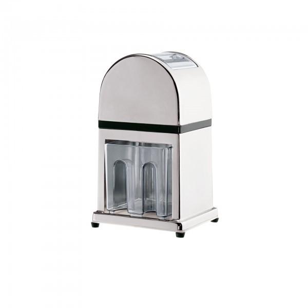 Eiszerkleinerer - Zinkdruckguss, verchromt - mit Handkurbel - premium Qualität