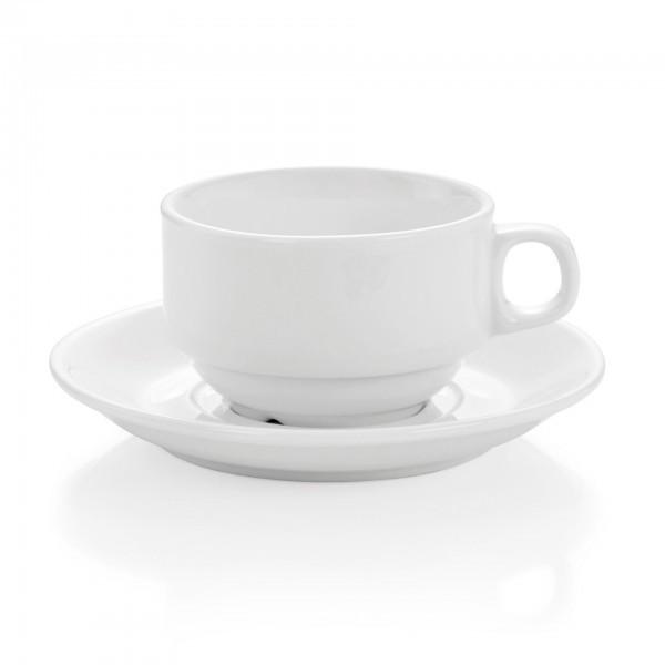 Tasse und Untertasse - Serie Hamburg - Porzellan - für Systemgastronomie - premium Qualität