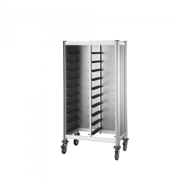Tablettwagen - Aluminium - Aluoptik - premium Qualität