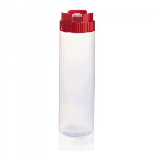 Quetschflasche - Polyethylen - versch. Farben - farbiger Schraubdeckel und Silikonventil - premium - 3737.070