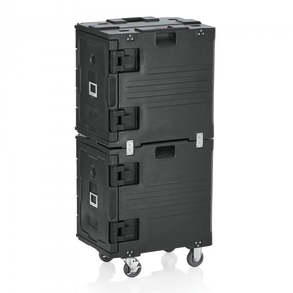 GN-Doppel-Thermobehälter mit Fronttür - 4 Rollen - 20 Einschüben - 3716.020