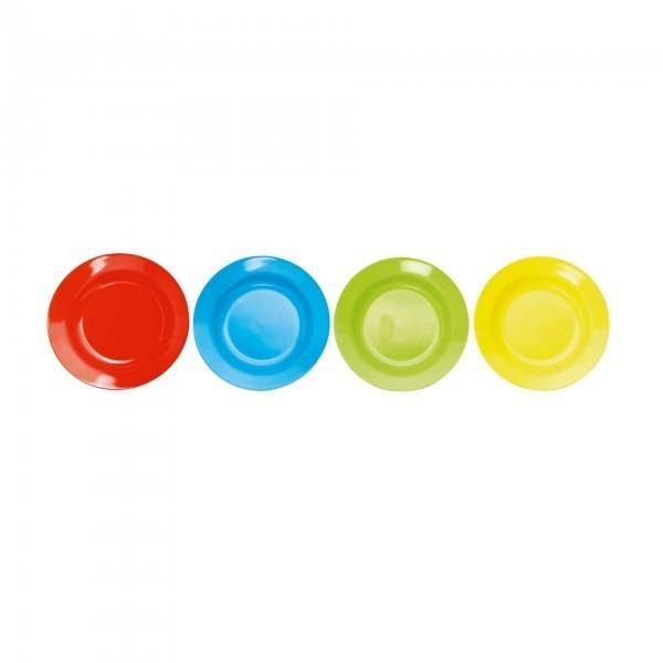 Teller - Melamin - versch. Farben - flach - extra preiswert