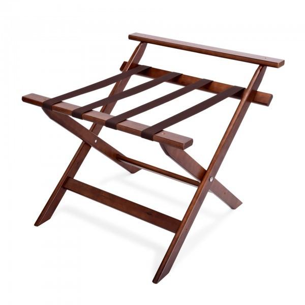 Kofferständer - Holz - mit Wandschutz