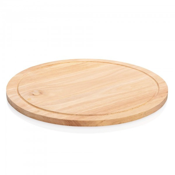 Pizzateller - Holz - natur - mit Saftrille - 1847.320