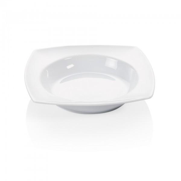 Teller - Porzellan - rechteckig - tiefe Ausführung