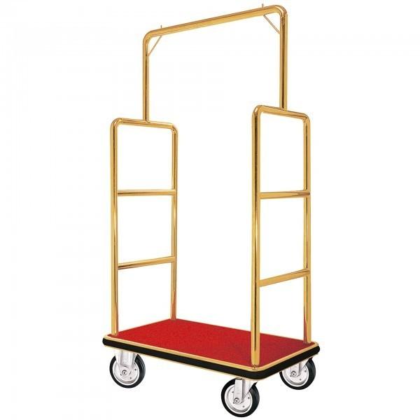 Kofferwagen - Edelstahl - gold - versch. Teppichfarben - extra preiswert