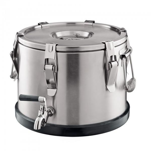 Thermogetränkebehälter - Chromnickelstahl - mit Fallgriffen - premium Qualität