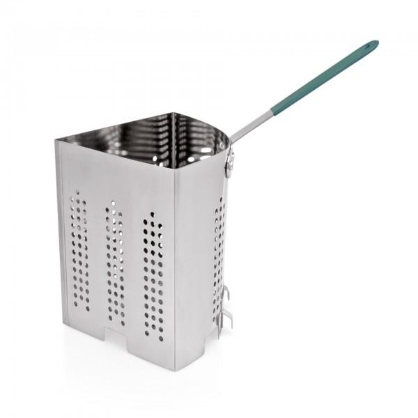 Viertelkocheinsatz für Pasta - Serie 2000 - Edelstahl - Griff mit Hitzeschutz - extra preiswert