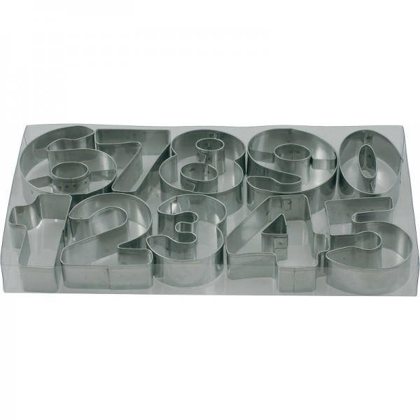 Set Ausstechformen in PVC Box, 7,5 cm - Nr. 0-9, 18/0